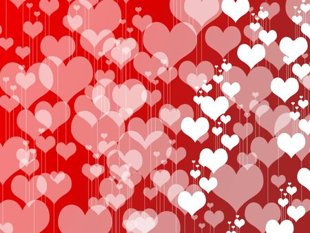 San valentine hearts photo