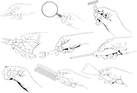manos: Manejar utensilios