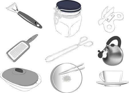 cookware: Vajilla 2 Vectores