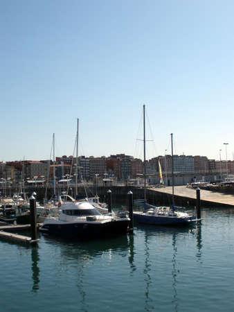 cantabrian: boats in cantabrian sea Stock Photo