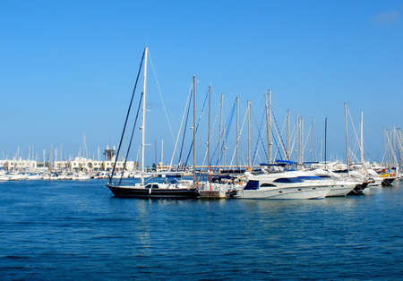 ships in the seaport of Alicante, Spain photo