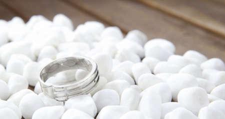 Wit gouden ring Stockfoto