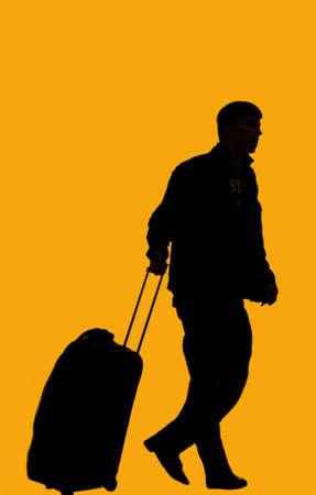 Traveler shadows Illustration