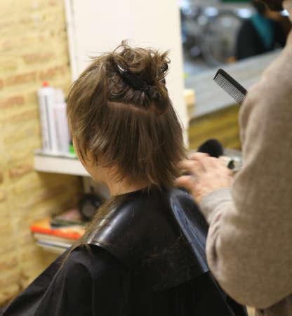 Hairdresser working