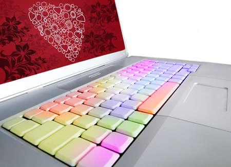 san valentin: San Valentin love keyboard Stock Photo