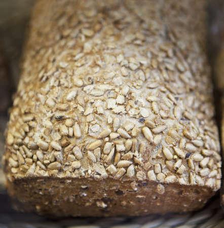 Brown bread closeup