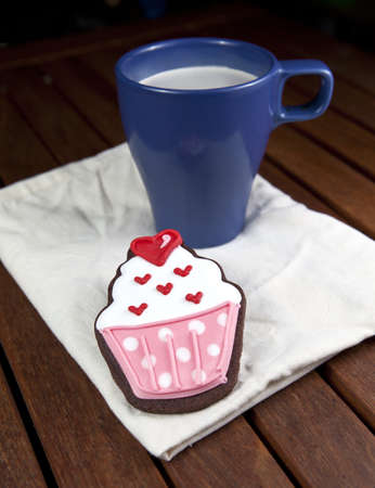 cooky: Sweet cup cake cooky cup of coffee