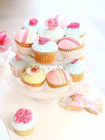 Zacht licht om een cupcake dienblad in een partij
