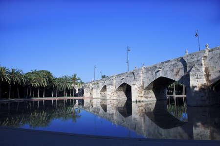Old stone bridge in Spain Stock Photo