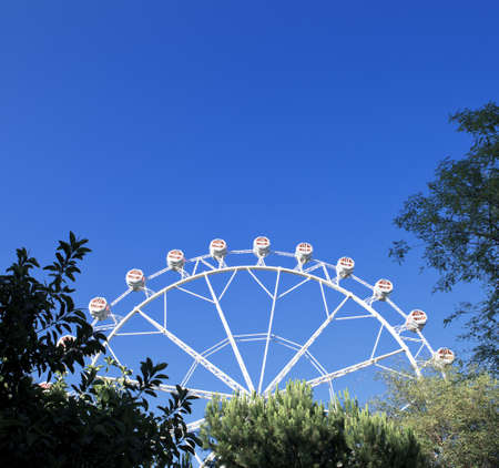 Zomerdag in circus, reuzenrad Stockfoto