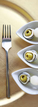 Gourmet spiedino close up Archivio Fotografico