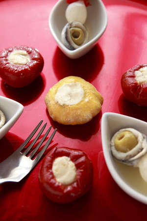 Gourmet brochette close up Stock Photo