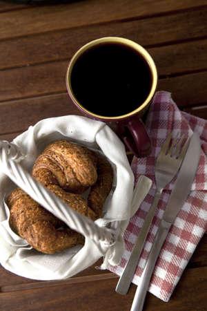 Colazione caff� con panetteria Archivio Fotografico