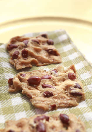 Deliciouse Cookies with peanuts Stock Photo