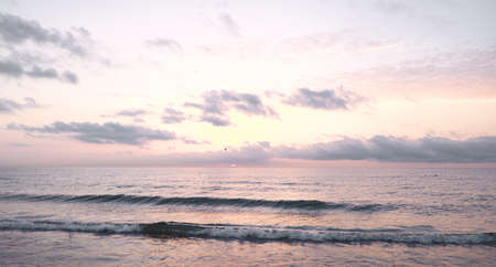 Colorful sunrise at Mediterranean sea