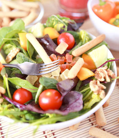 Freshness and healthy close up salad