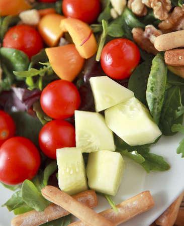 Freschezza e sana insalata close up