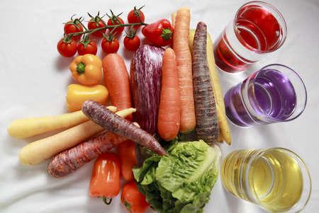 Soort groenten op knutselen met achtergrond