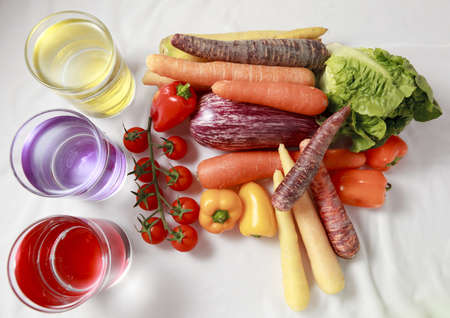 Sort of vegetables on withe background Stock Photo