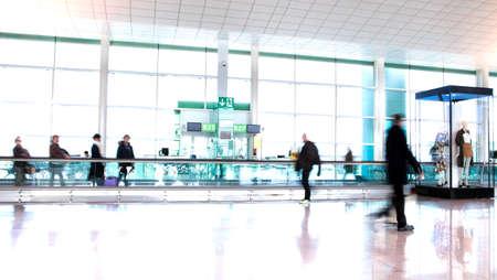 Airport travelers Stock Photo
