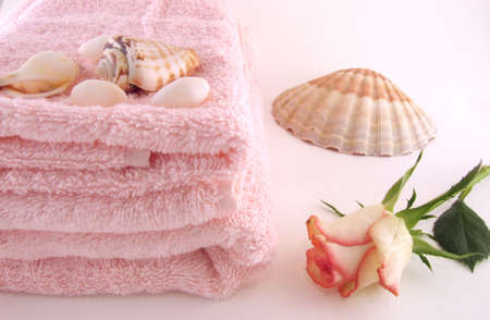 Some objects in still-life in the bathroom Stock Photo