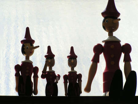 for children toys: pinocchio silhouettes as toys for children