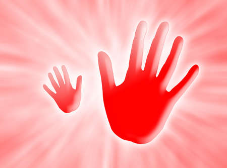 alt: Two red hands saying ALT against a red background with white rays of light