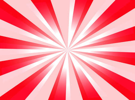 A red background with starburst and light