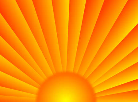 A very colorful background with these sun rays Stock Photo