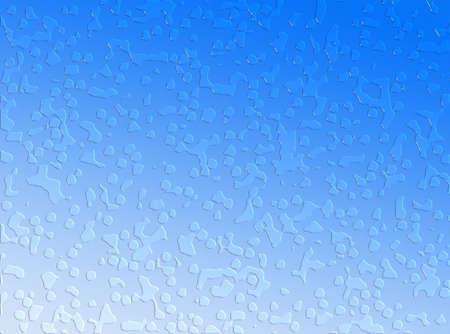 水滴が青色の背景色 写真素材 - 954698