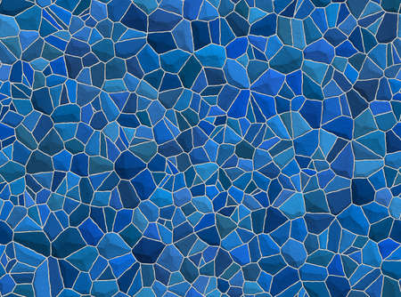 fissures: Blue stone wall for your colorful backgrounds Stock Photo