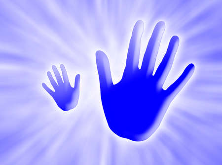 alt: Blue hands saying ALT against a blue background with white rays of light