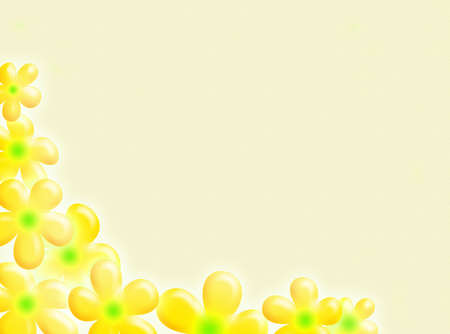 chlorophyll: Flowers frame as decoration for this background Stock Photo