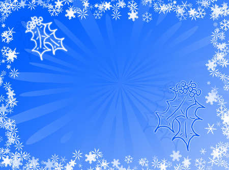 recurrence: Christmas and holidays with this blue card Stock Photo