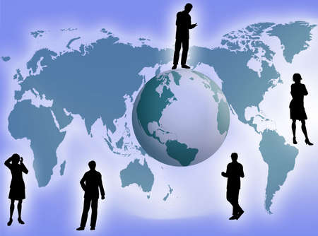 Business team all around the world as business concept Stock Photo - 2330926