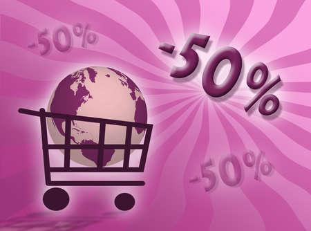 represent: Discounts percentages illustration to represent discount concept