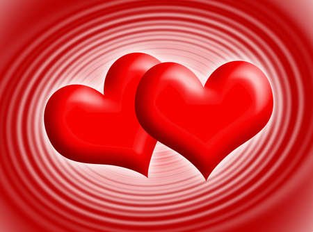 infatuation: Two red hearts for Valentines day