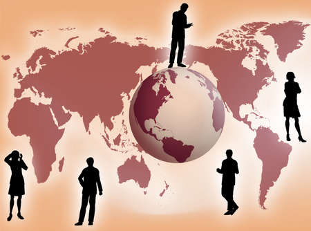 compromise: Business team all around the world as business concept