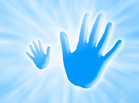 alt: Hands saying ALT against a  background with white rays of light Stock Photo