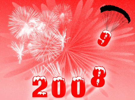 recurrence: New Year night with fireworks and change of number