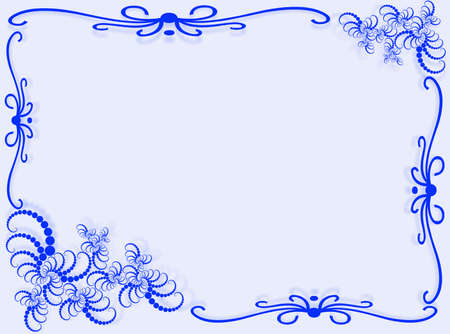 Abstract background with frame and abstract decorations Stock Photo - 4099947