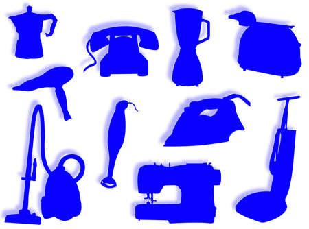 Ander soort elektrische apparaten voor huishoudelijk werk  Stockfoto - 4954551
