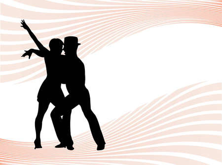 Pastel Background With Couple Dancing As Symbol Of Dance Stock Photo