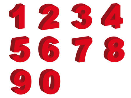 Number letters in silhouette as symbol of numbers and counting