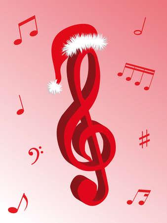 音楽の音符のクリスマス音楽および音の記号として