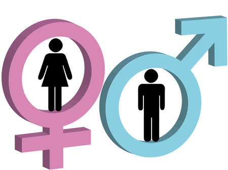 Male and female sign as symbol of man and woman Ilustracja