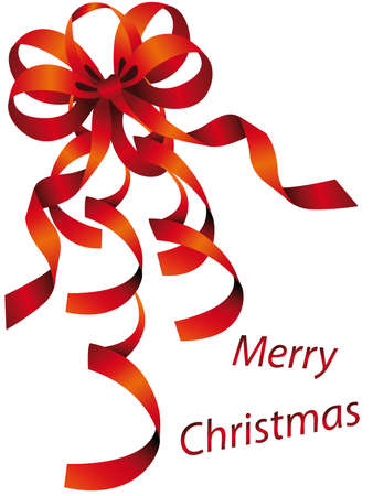 クリスマスの時間を表現する弓と装飾品の背景
