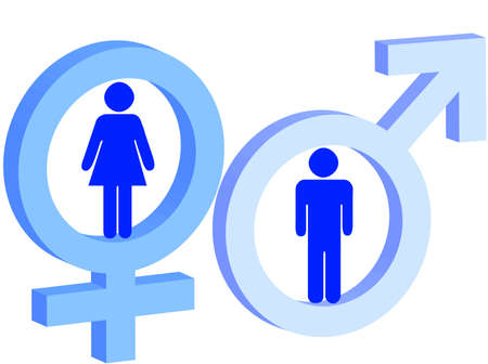 Male And Female Sign As Symbol Of Man And Woman Stock Photo Picture