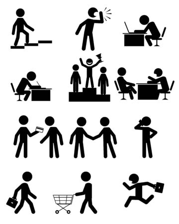 promoter: illustration of a people in business
