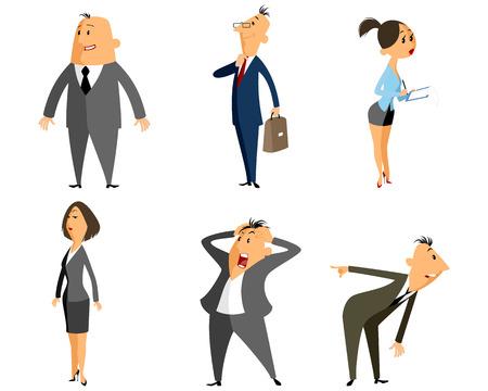 Vector illustration of a six profession people Çizim